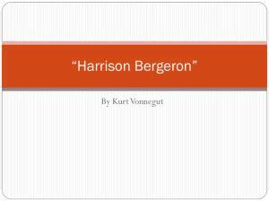 Literary analysis on harrison bergeron